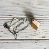 Book Necklace: Marigold