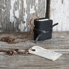 Book Necklace: Cobbler's Black