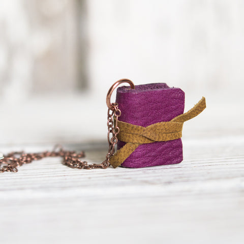Book Necklace: Zinnia