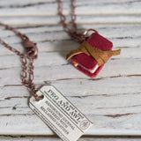 Book Necklace: Poppy