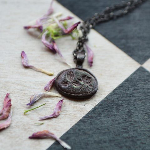 Red Clover Botanical Necklace