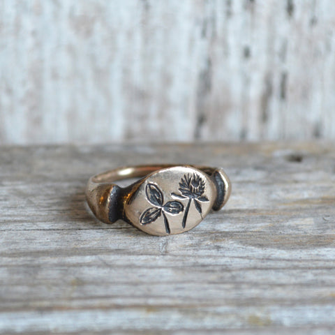Red Clover Botanical Ring