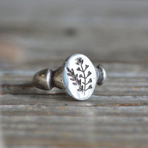 Shepherd's Purse Botanical Ring