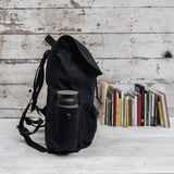 All Black Rogue Backpack with Side Pockets
