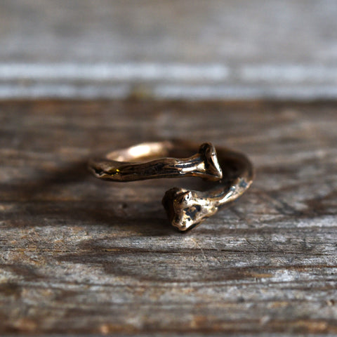 Bone Ring in Bronze