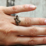 Bone Ring in Silver