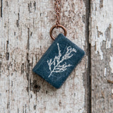 Anna Atkins Large Book Necklace: Cystoseira fibrosa