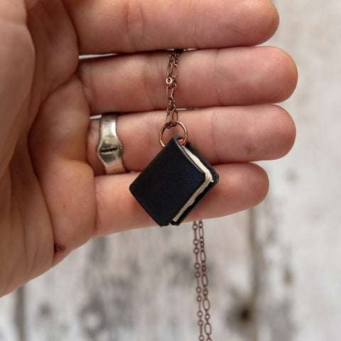The Jackson Book Necklace (black)