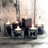 Zodiac Blackened Candleblock: No. 14, Capricorn