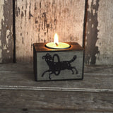 Zodiac Blackened Candleblock: No. 5, Aries
