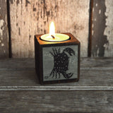 Zodiac Blackened Candleblock: No. 8, Cancer