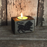 Zodiac Blackened Candleblock: No. 9, Leo