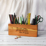 Large Desk Caddy with Quote