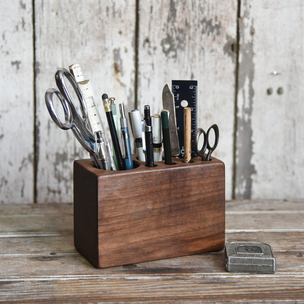 Medium Walnut Desk Caddy