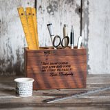 Medium Desk Caddy with Quote