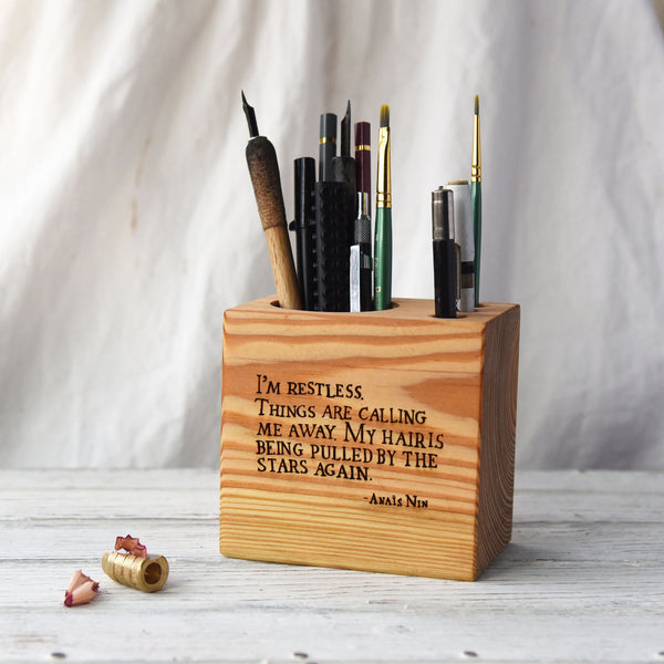 Small Desk Caddy with Quote
