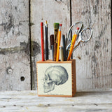 Small Medical Desk Caddy: No. 1, Skull