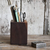 Small Walnut Desk Caddy