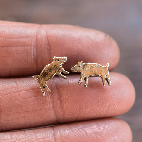 Foundlings Earrings: Talia (Dog)
