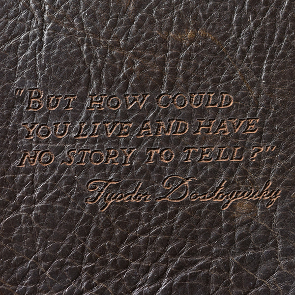 Medium Leather Journal with Quote