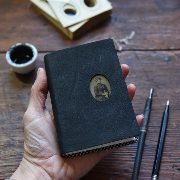 No. 6, Leonora: Medium Hand-Bound Tin Type Journal