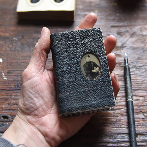 No. 1, Polly: Small Hand-Bound Tin Type Journal