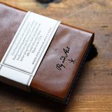 Hand-Bound Leather Journal in Acorn