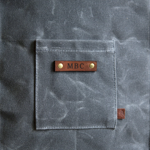 Custom Monogramming for Waxed Canvas