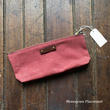 Antique Leather Medium Waxed Canvas Pouch