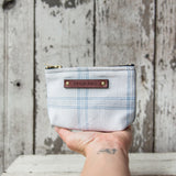 Custom Pouch with 1800s Jaquard Loom Coverlet: Ada