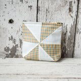 Custom Pouch with 1930s Quilt Block: Agatha