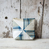 Custom Pouch with 1930s Quilt Block: Esme
