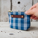 Custom Pouch with Early Pennsylvania Homespun: Joanna