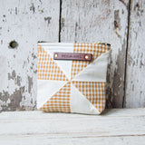 Custom Pouch with 1930s Quilt Block: Moll