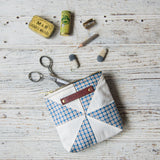 Custom Pouch with 1930s Quilt Block: Siggi