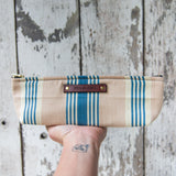 Drafter Pouch with Antique Ticking: Annika