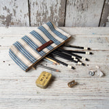 Essentials Pouch with Antique Ticking: Claudi