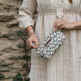 Essentials Pouch with 1930s Black and White Dress Print: Famke