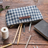 Essentials Pouch with Early 1900s Woven Coverlet: Tess