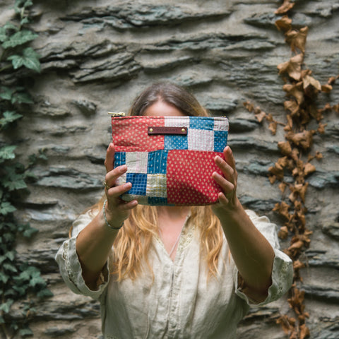 Keeper Pouch with 1900s Quilt Squares: Agnes