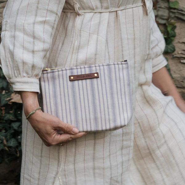 Keeper Pouch with Early 1900s Ticking: Otis