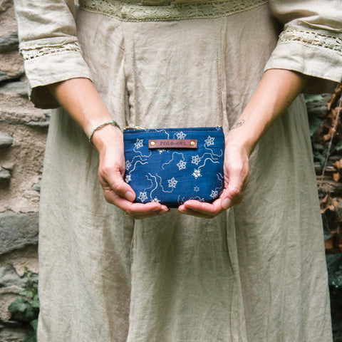 Saver Pouch with 1800s Textile: Freja