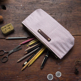 Scholar Pouch with 1930s Shirting: Cornelia
