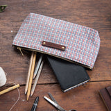Scholar Pouch with 1930s Shirting: Noa