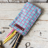 Scribbler Pouch with Vintage Feedsack: Anselma
