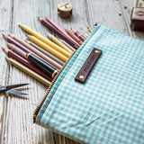 Keeper Pouch with 1950s Deadstock Textile: Chrysocolla