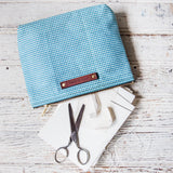 Keeper Pouch with 1950s Deadstock Textile: Glacier
