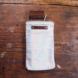 Scribbler Pouch with mid-1900s Feed Sack Textile: Taffy