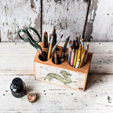 Foundlings Medium Desk Caddy: Moss