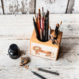 Foundlings Small Desk Caddy: Sage